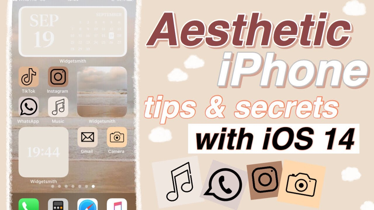 Aesthetic Iphone Customization With Ios 14 Widgets Shortcuts Youtube