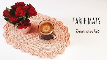[코바늘 테이블 매트] 타원형 테이블 매트/러그로도 활용 ok (crochet table mats/place mats)