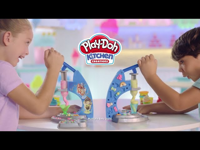 اصنع مثلجاتك مع Play-Doh Drizzy Ice cream من Hasbro