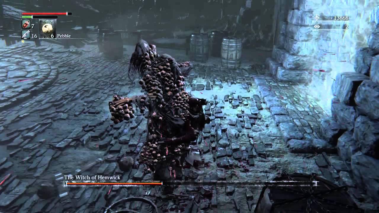 Bloodborne Witch Of Hemwick Easy Kill Youtube