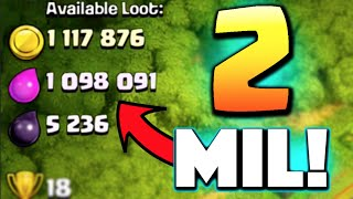 Clash of Clans - BIGGEST LOOT EVER! 2 MILLION RAID! Legends League Loot is Unreal!