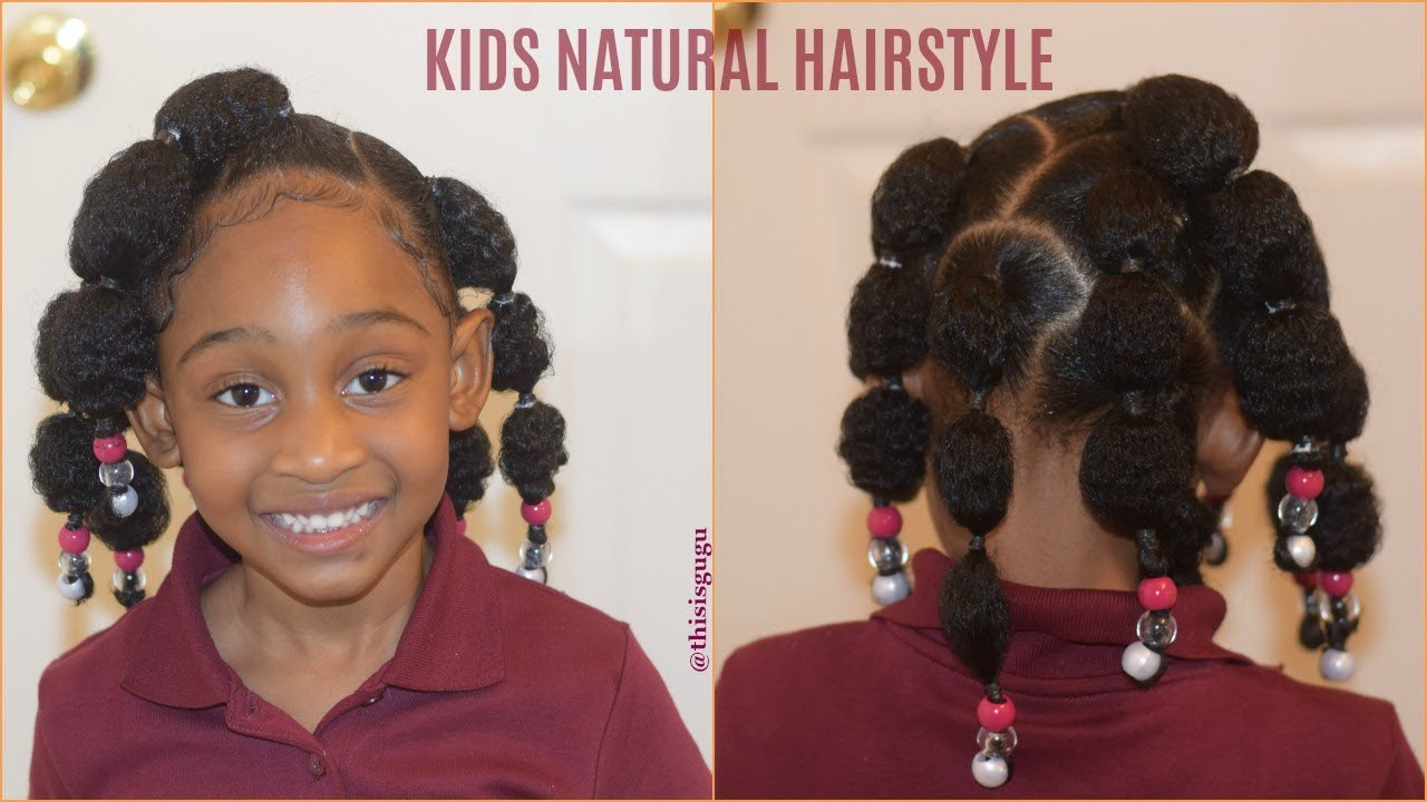 Kids Natural Hairstyles Rubberband Puff Balls Easy Quick