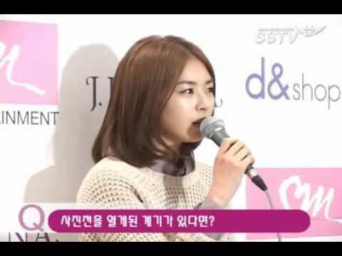 Lee Yeon Hee ~  'Time' Photo Exhibit Interview.  PARTE 1 .