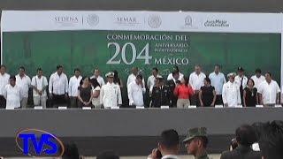 TVS Noticias.- En Coatzacoalcos Celebran Con Desfile Militar 204 Aniv de La Independencia de México