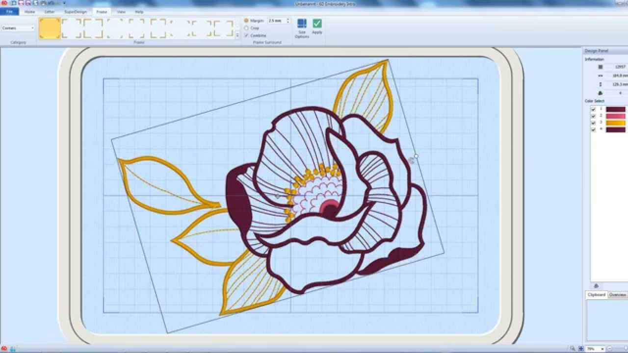 6d Embroidery Intro Software Youtube