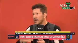 El Cholo Simeone habló de Lautaro Martínez