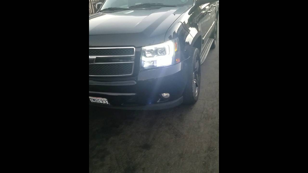 Halo Headlights On 2010 Tahoe Youtube