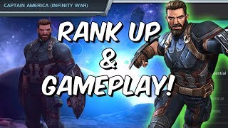 Captain America (Infinity War) Rank Up & Gameplay! - Marvel Contest Of Champions
