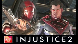 Injustice 2 - Red Hood Vs Justice League Intro Dialogues