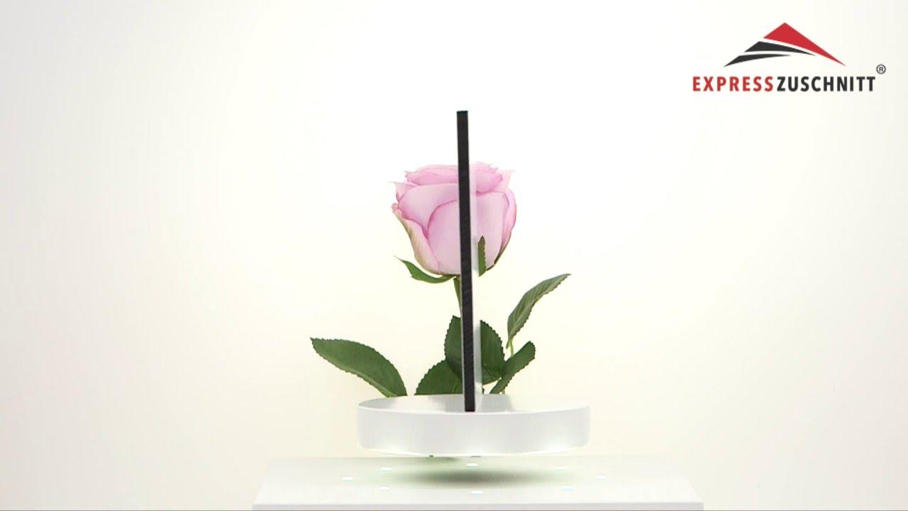 Alu DIBOND® weiß Zuschnitt 6mm - ExpressZuschnitt.de - YouTube