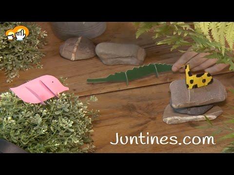 Aprended a hacer animales con cartulina