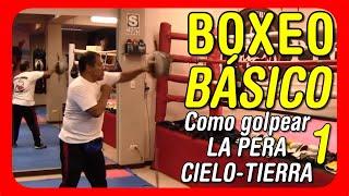Clases de boxeo: Entrenamiento bÌÁsico en la Pera cielo tierra o Pera loca – Jab y esquive