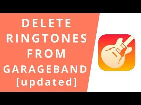 How to Delete Ringtones from GarageBand [2018]