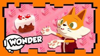 I Wonder - Episode 12 - Stampylonghead (Stampy Cat) and Wizard Keen - Baking a Cake! - WONDER QUEST