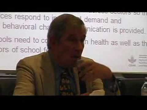 """Lecture by Dr. Harold Alderman on """"Making Social Protection More Nutrition Sensitive"""", part 2"""