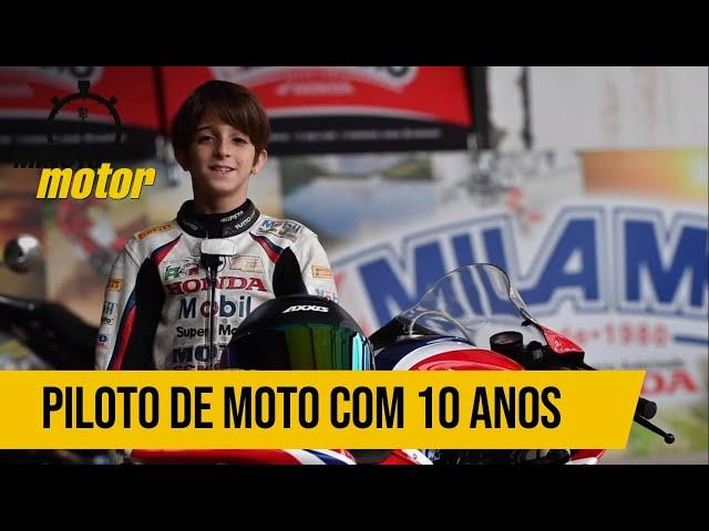 Piloto de moto com dez anos, pode? | Minuto Motor