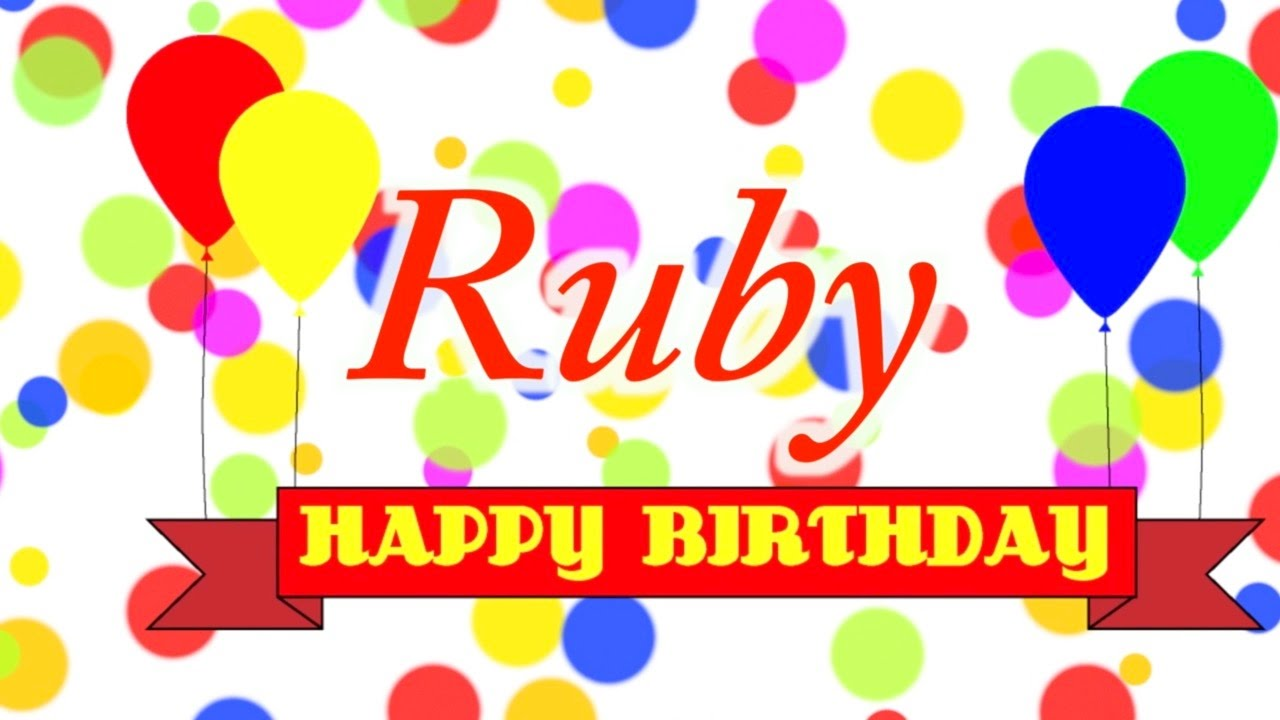 Happy Birthday Ruby Cake Images