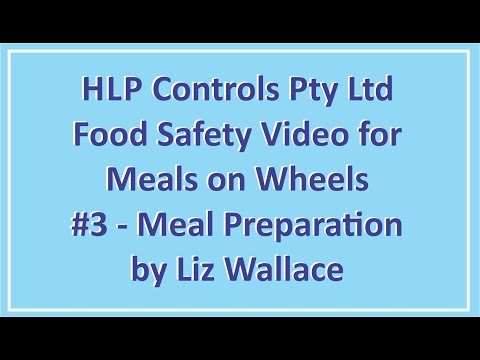 HLP Controls Meals on Wheels Course #3 - Meal Preparation
