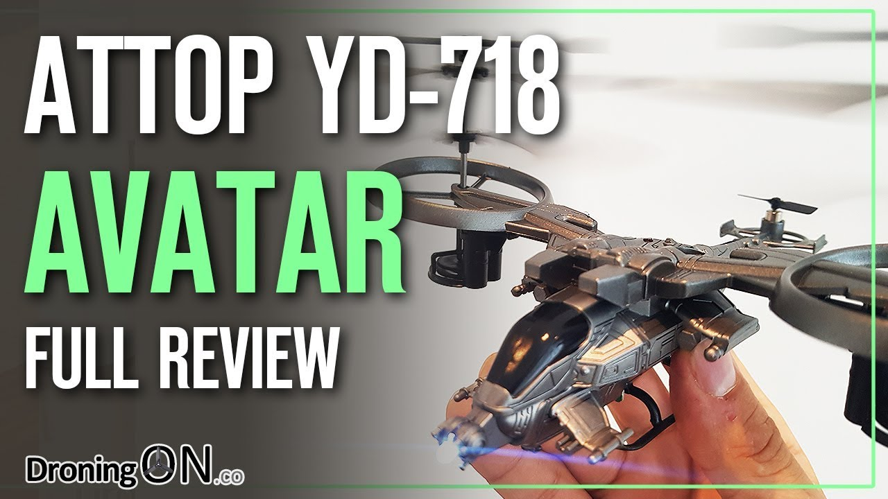 DroningON | Attop YD 718 Avatar Tricopter Review, Unboxing & Flight ...