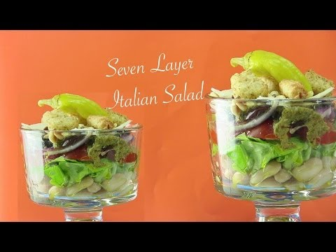 Healthy Seven Layer Italian Salad Video Recipe by Bhavna