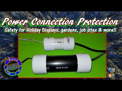Power Cord Protection - DIY Outdoor Display Safety
