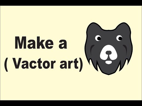 vactor art by tracing paper