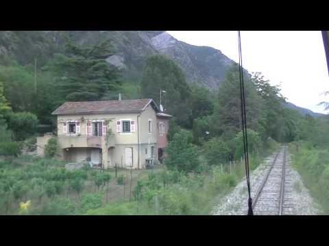 train trajet de Puget Théniers à Colomars La Manda