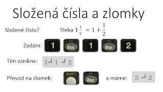 Jak na kalkulačku: 1. závorky a zlomky (složená čísla)