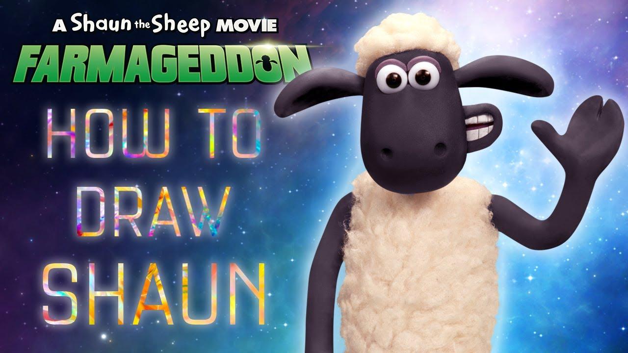 How To Draw Shaun - A Shaun the Sheep Movie: Farmageddon