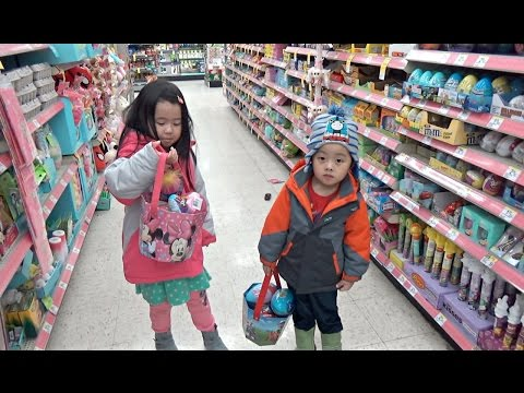Thumbnail: Toys Hunt and Kids Shopping Easter Egg Hunt 2017 Peppa Pig, Spiderman, Beauty in the Beast
