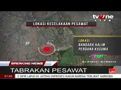 Pesawat Batik Air vs Trans Nusa Tabrakan Di Halim Perdana Kusuma Menyebabkan Sayap BatikAi