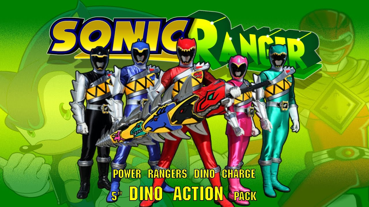 Dino action 6 pack bandai power rangers dino charge action figures video review by sonic ranger - Sonic power rangers dino charge ...
