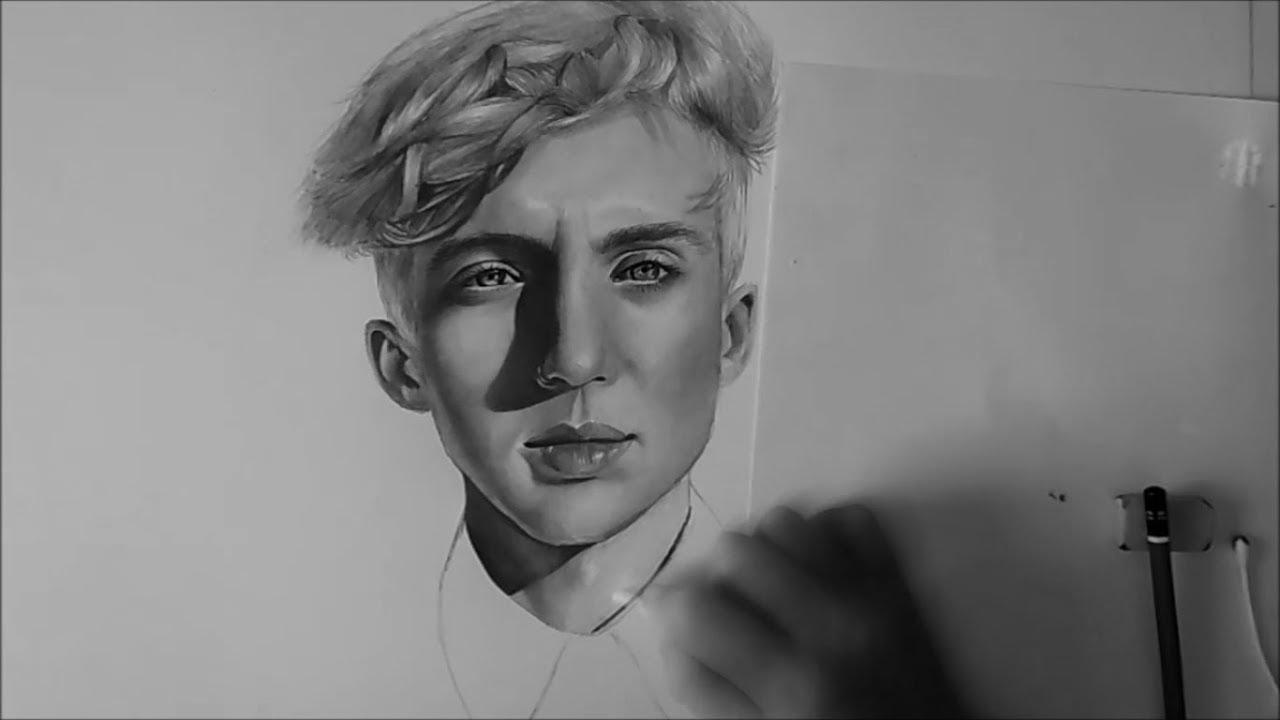 Drawing - Troye Sivan - YouTube