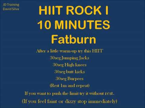 HIIT 10 Minutes with 3 rock songs