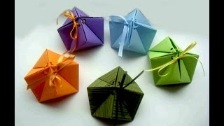 "Origami Gift Box. Origami Box ""cindy"" - 9 Corners. Great Ideas For  Gift. Easter"