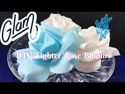 DIY| Lighted Rose Blooms For Mom, Aunt's And Loved Ones