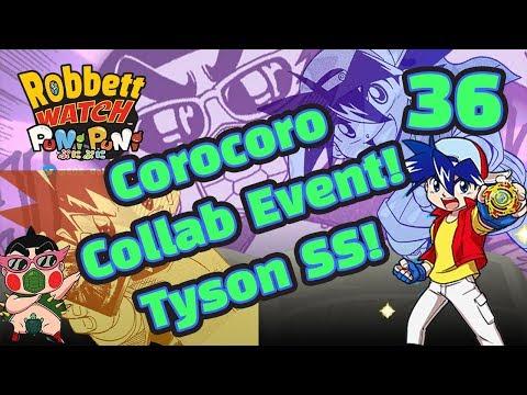 Yo-kai Watch Puni Puni #36: Corocoro Comic Collab! Tyson SS Beyblader! Robbett Watch