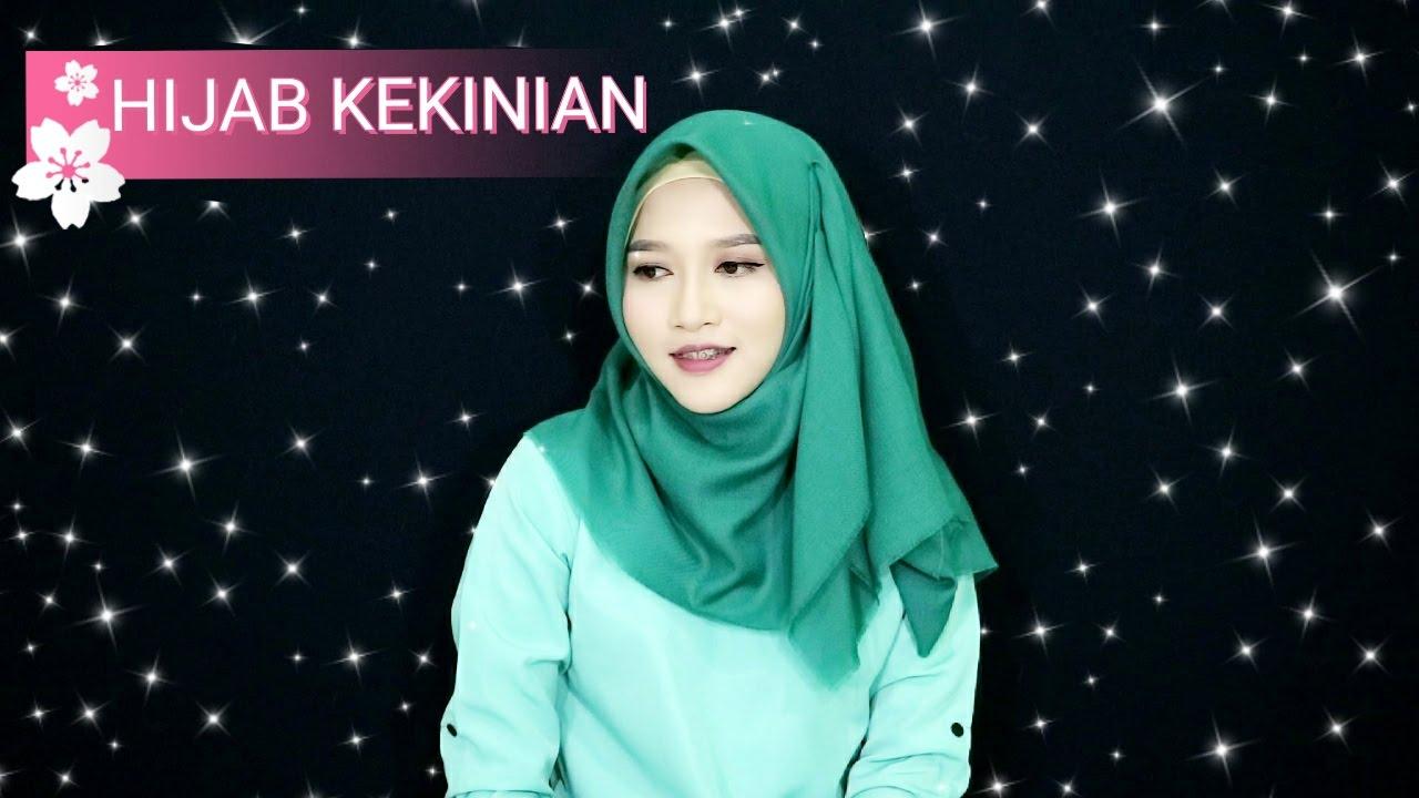 Gambar Tutorial Hijab Segi Empat Kekinian 2018 | Tutorial ...