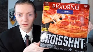DiGiorno NEW Croissant Crust Pizza Review!