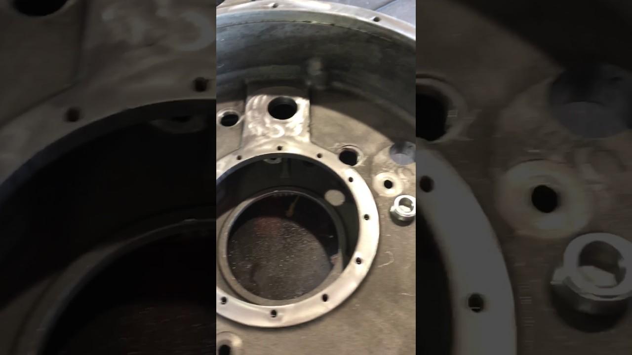 Bell housing oil leak - YouTube