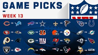 Week 13 Game Picks | NFL 2019