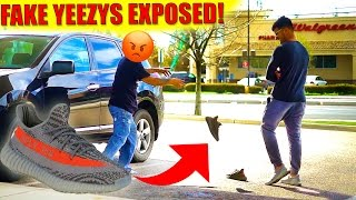 EXPOSING FAKE YEEZYS IN PUBLIC!!