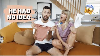 TELLING MY HUSBAND WE'RE PREGNANT // He had NO idea! + telling my TWIN SISTER!!