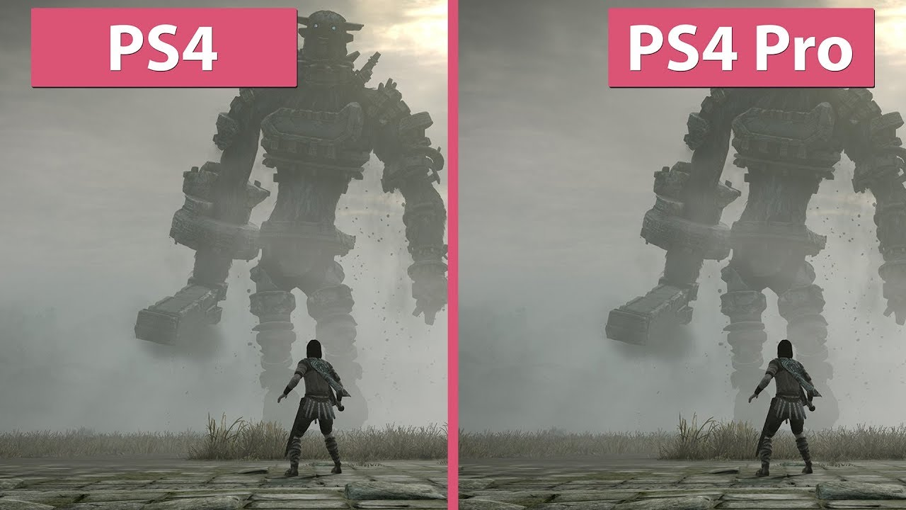 4K] Shadow of the Colossus – PS4 vs. PS4 Pro Graphics Comparison ...