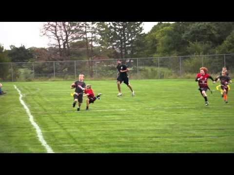 Kellan Humm 9 year old flag football coming at you