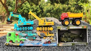 Construction Vehicles Toys | Excavator , Truck, Helicopter Toys, Wheel Loader , Crane truck