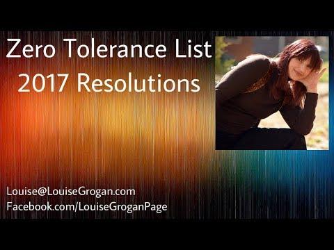 Zero Tolerance List – 2017 Resolutions