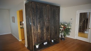 Wood Cabinet Closet Timeline: How I made a Wood Farm Style Cabinet Closet. It's so BIG!