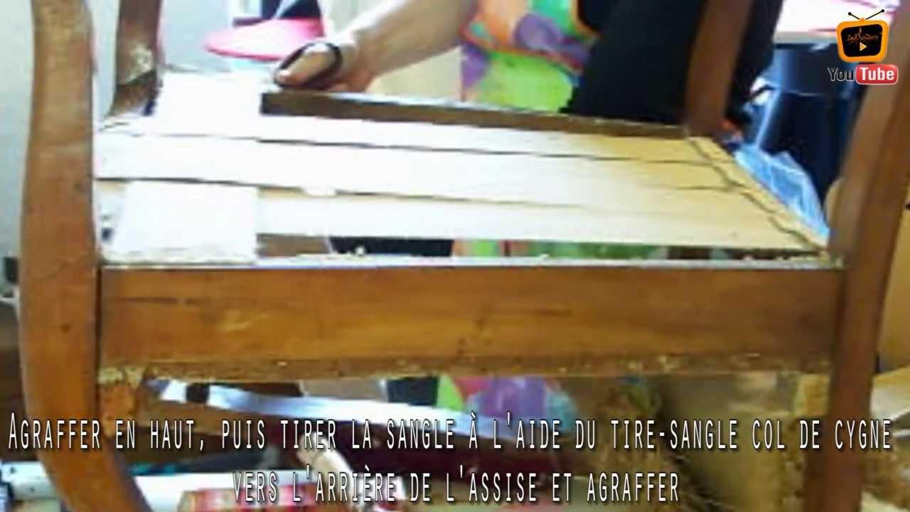 Top Restaurer un fauteuil - Sanglage d'un fauteuil voltaire - tuto  DH61