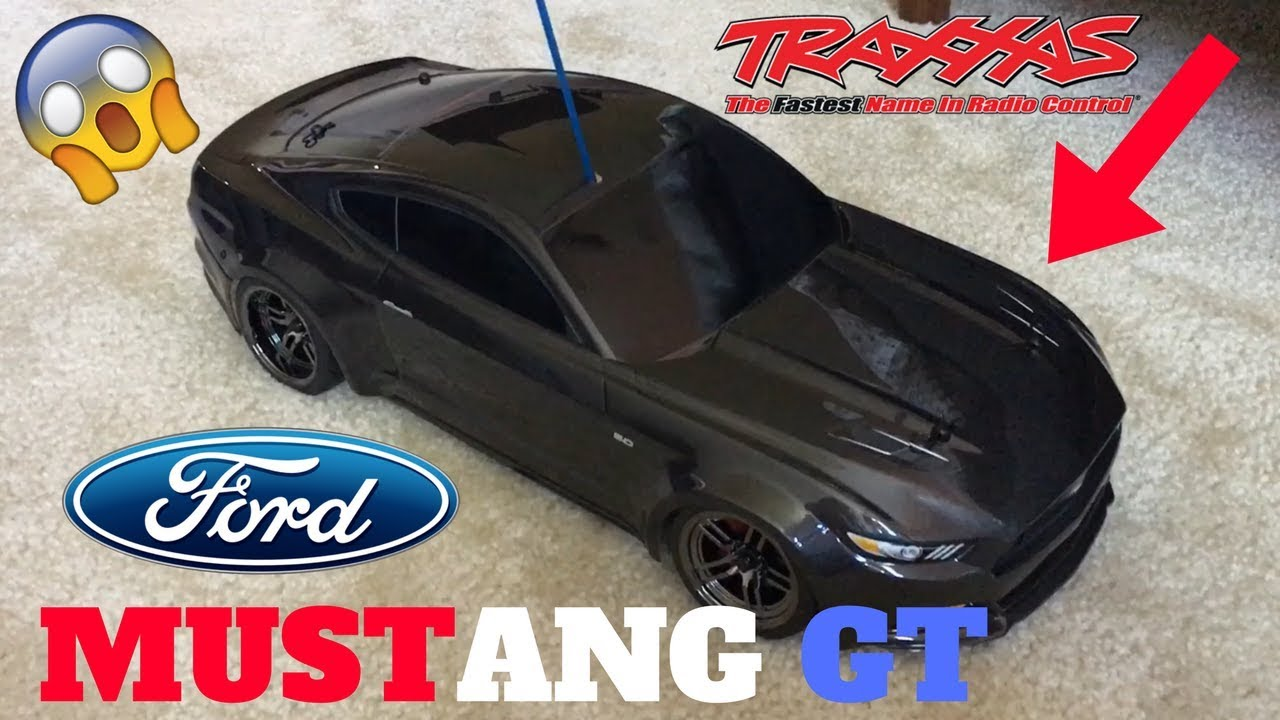 New Traxxas Ford Mustang Gt Rc Car  Mph Drifting And Driving Unboxingreview